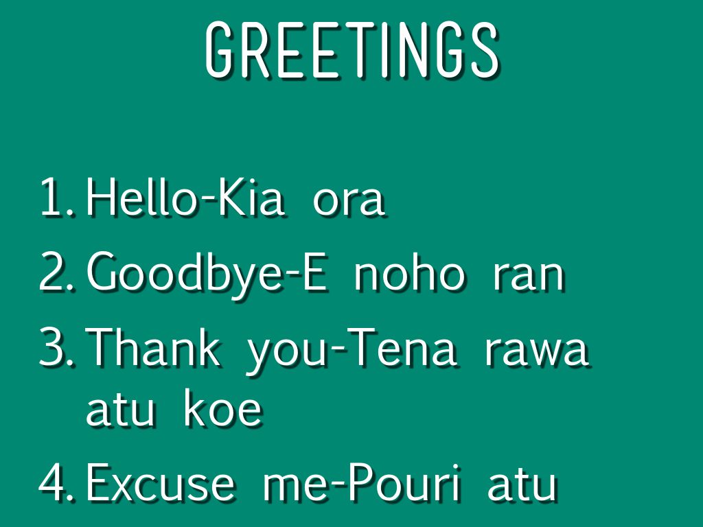 how to say hello in mauri