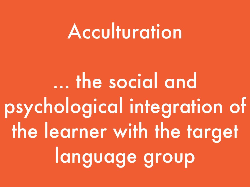 precise acculturation As nouns the difference between acculturation and deculturation is that acculturation is a process by which the culture of an isolated society changes on contact with a different one while deculturation is.