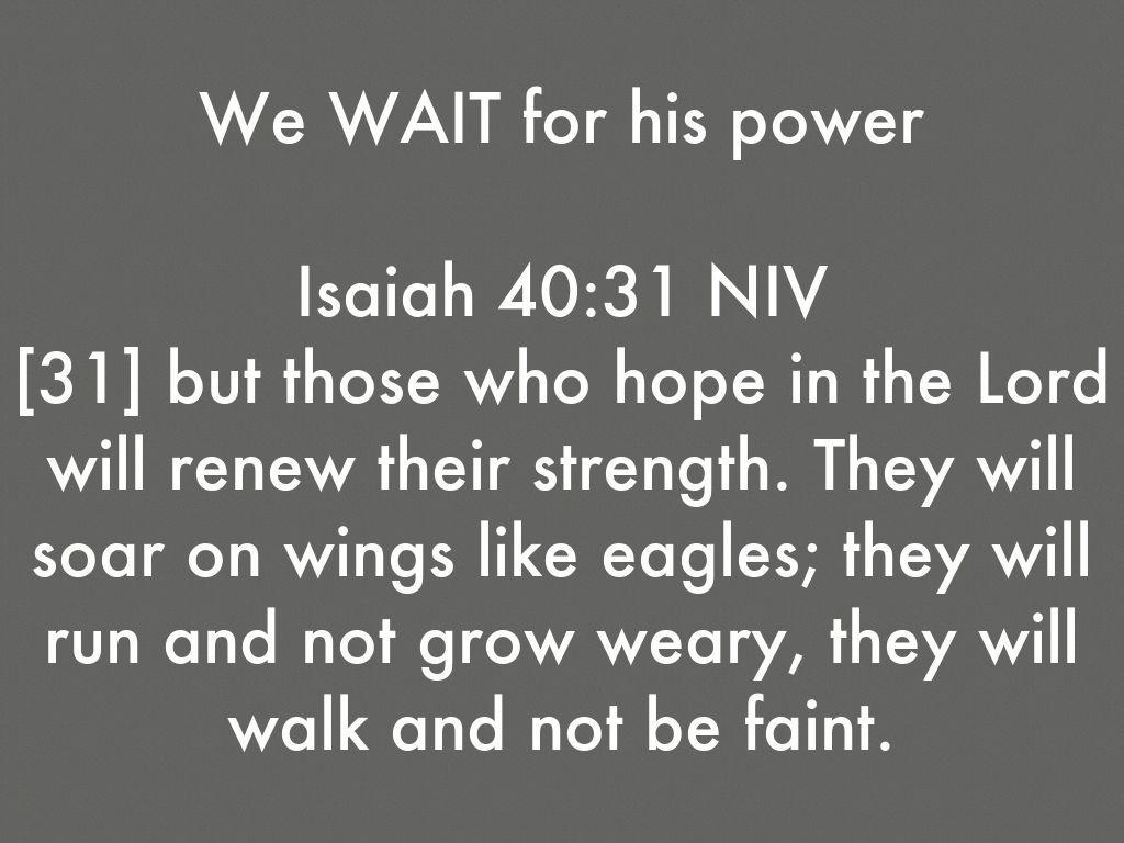 Isaiah 40 31 Niv