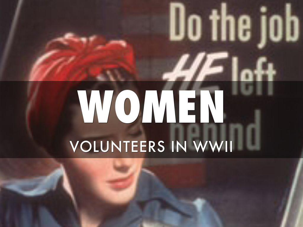 Women Volunteers In WWII