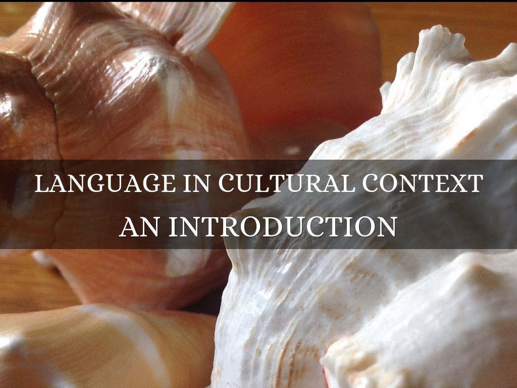 language in cultural context