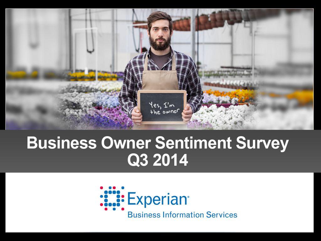 Q3 Business Owner Sentiment Survey