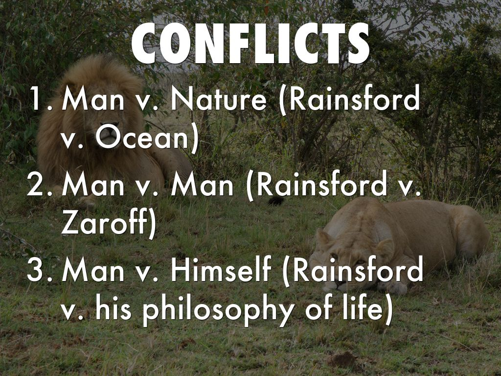 what are the conflicts in the most dangerous game