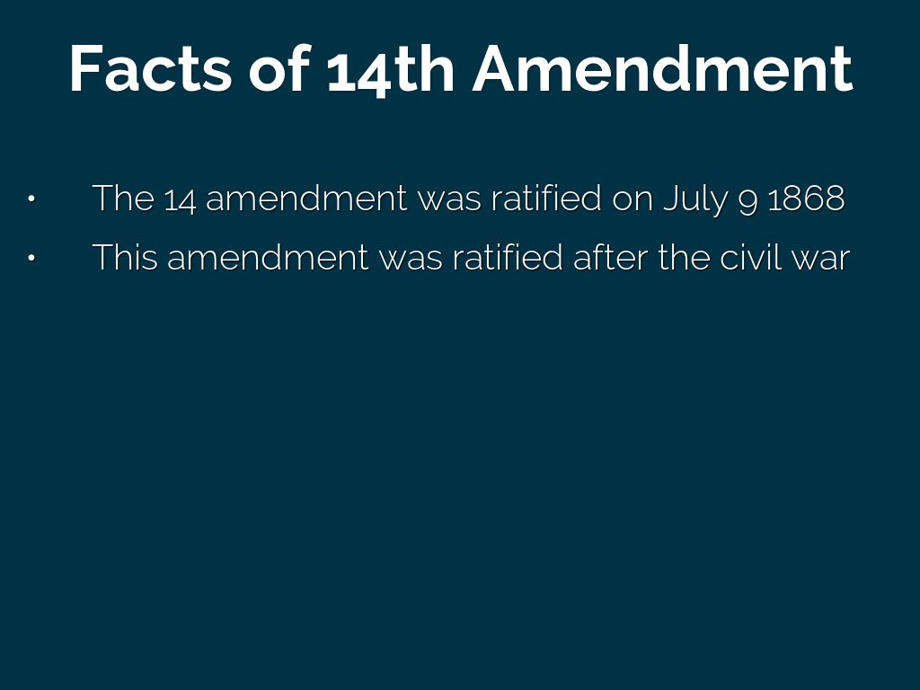 a history of the fourteenth amendment why and how it was ratified Following its ratification by the necessary three-quarters of us states, the 14th amendment, guaranteeing to african americans citizenship and all its privileges, is officially adopted into the.