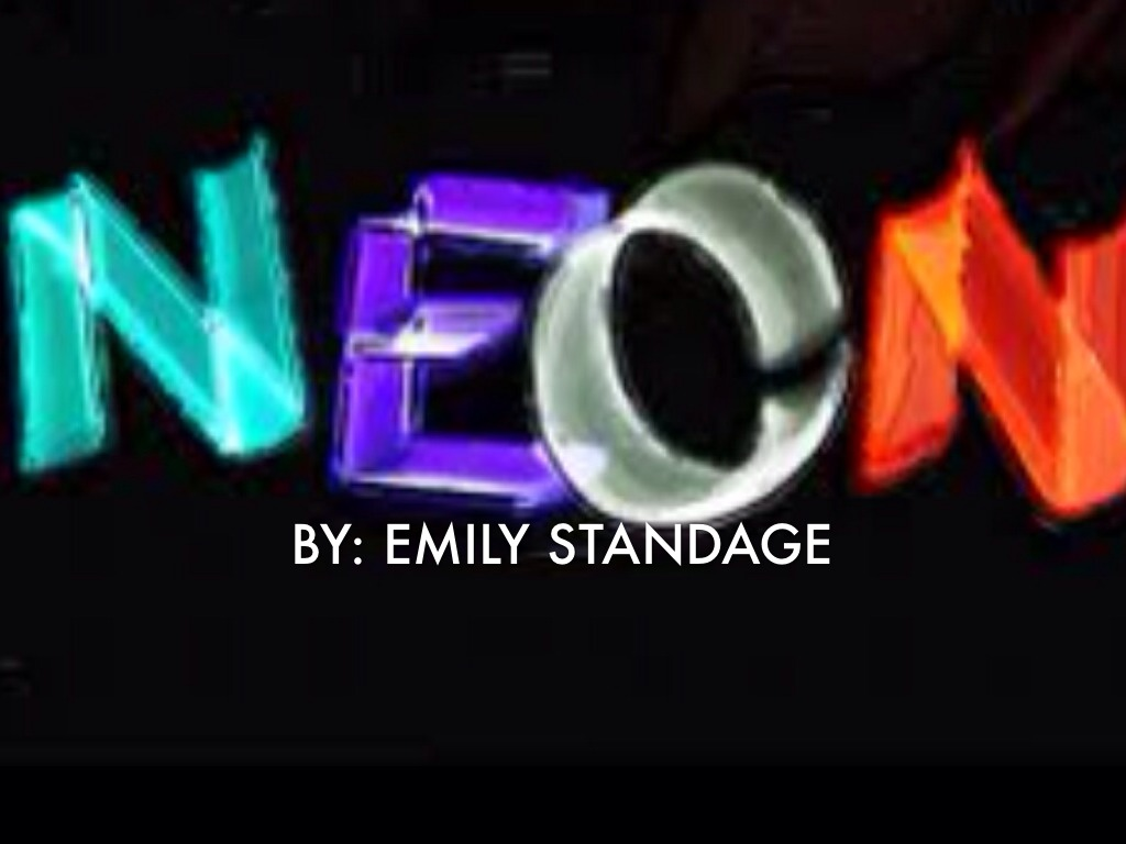 High Voltage Indicators Neon : Neon by emily standage