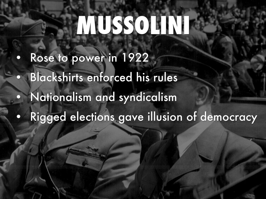 mussolini s rise to power