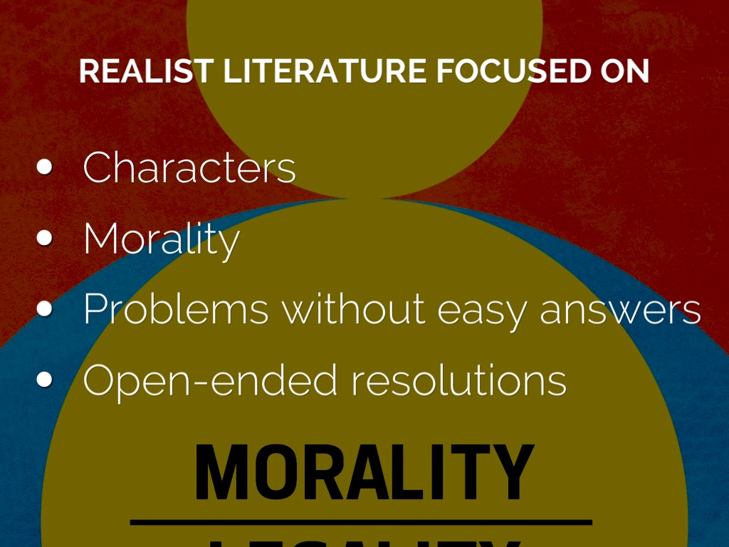 realist literary movement Arguing for dirty realism as a variant of naturalism, the chapter traces the  eight  to an emerged literary movement he dubbed dirty realism.