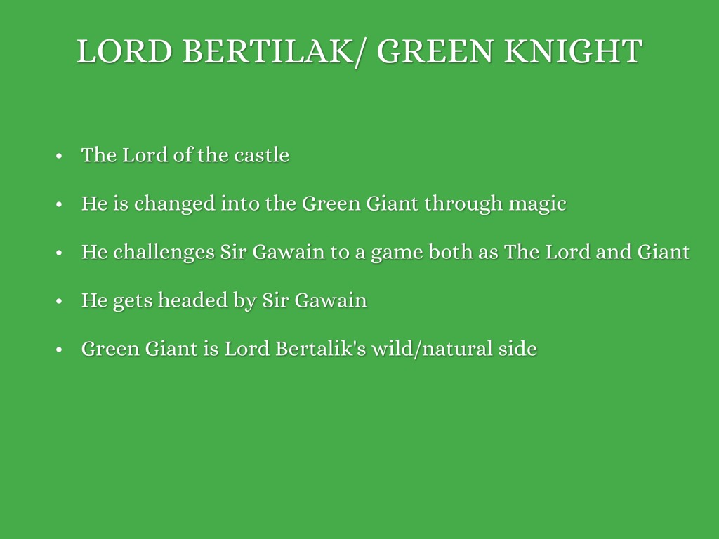 an analysis of themes in the story of sir gawain and the green knight Sir gawain and the green knight is an arthurian romance, which begins in king arthur's court, during new year's eve feast unexpectedly, a fgure known as the green knight, appears and presents a challenge.