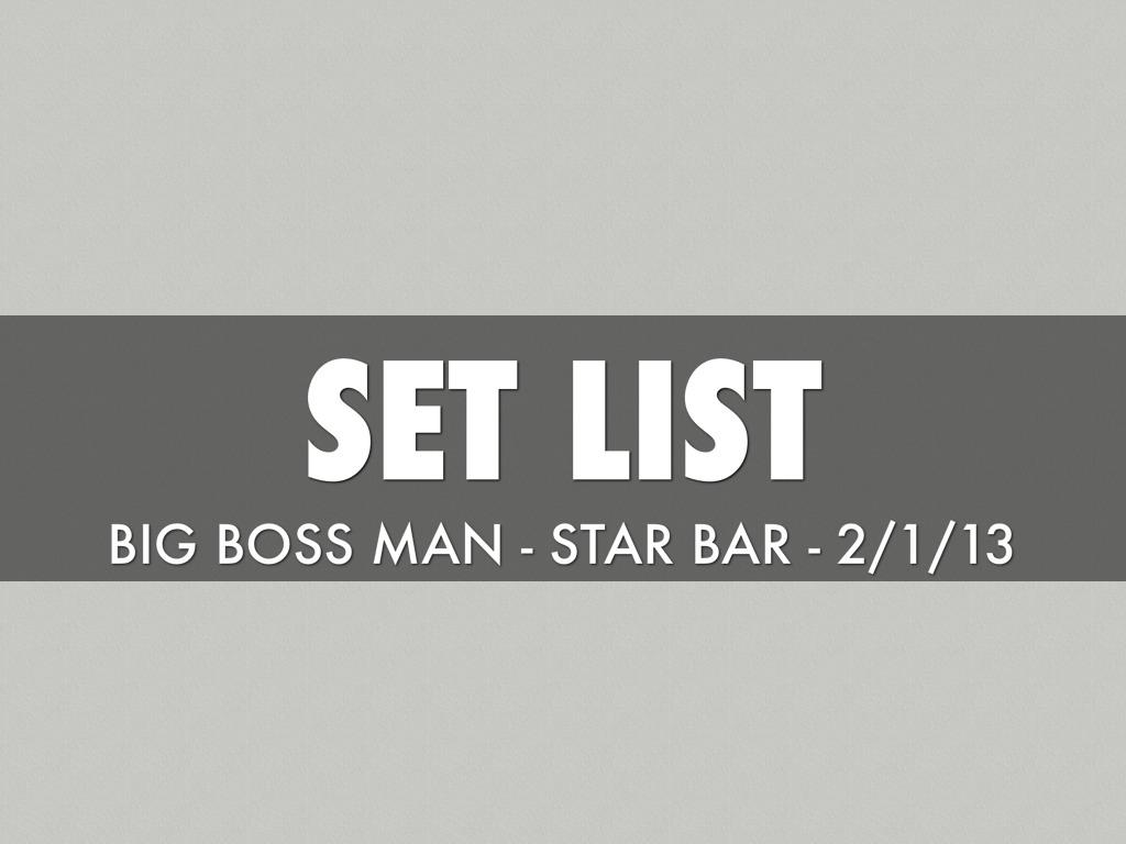 BBM Set List - Star Bar