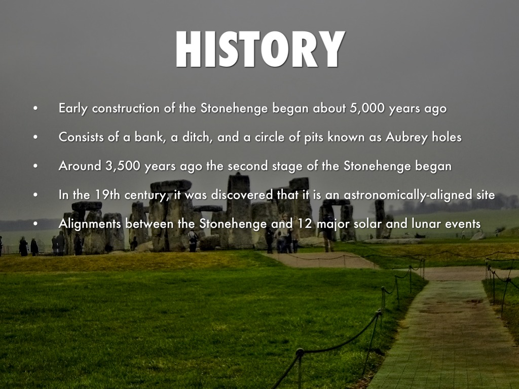 a history of stonehenge Stonehenge is perhaps one of the most famous prehistoric structures in the world   will discuss in this lesson, along with looking at its history and factual details.