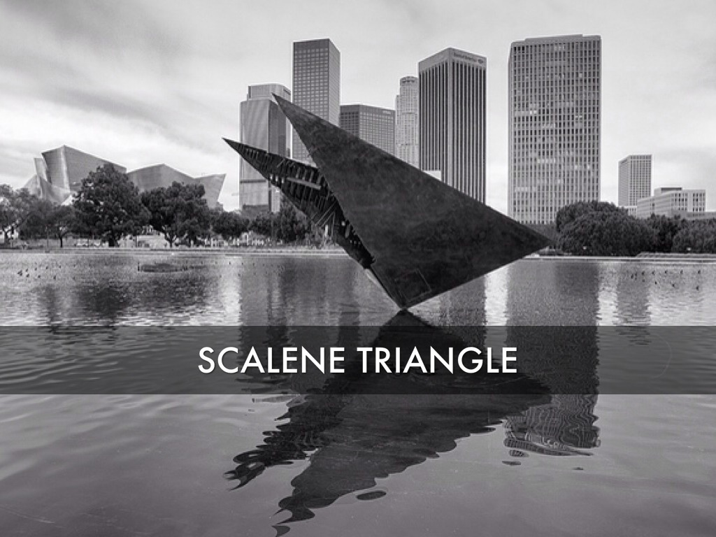 Scalene Triangle Outline Angles by Adrie...