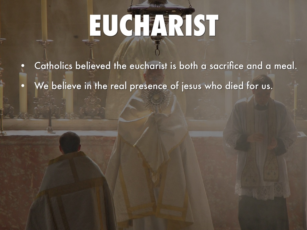real presence eucharist When used with reference to the supper, real presence implies calvin derives his doctrine of the supper from the accounts of the eucharistic institution in the.
