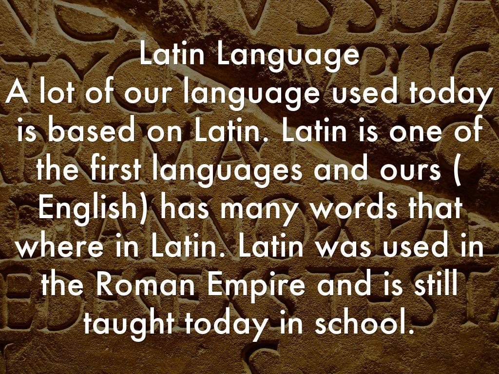 About Latin Language 34