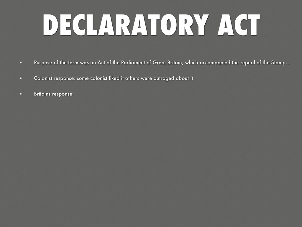 Declaratory Act Declaratory Act by Aus...
