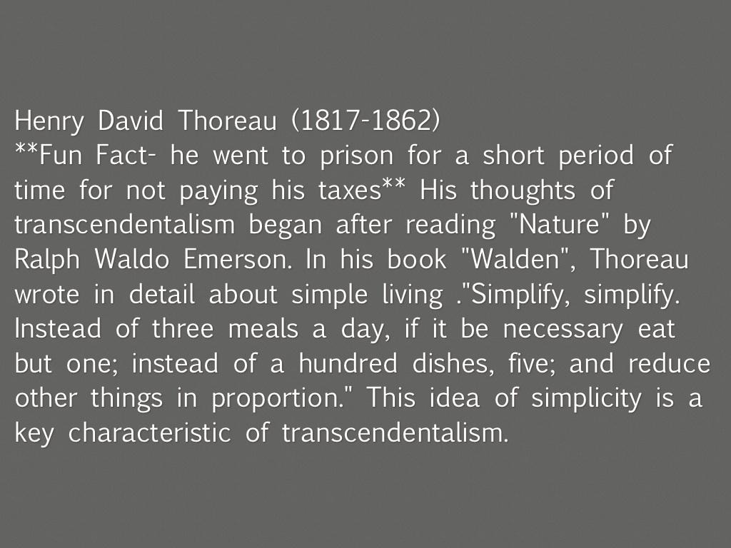 Transcendentalist: The Works of Henry David Thoreau & Ralph Waldo Emerson