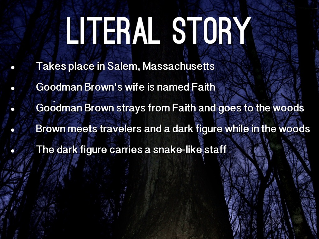 "a loss of faith young goodman A loss of faith the short story ""young goodman brown"" functions as an allegory of the biblical fall of man, from which nathaniel hawthorne draws to illustrate."