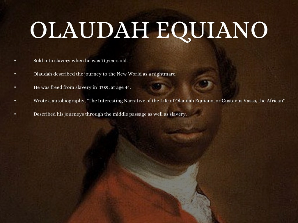the slavery of olaudah equiano
