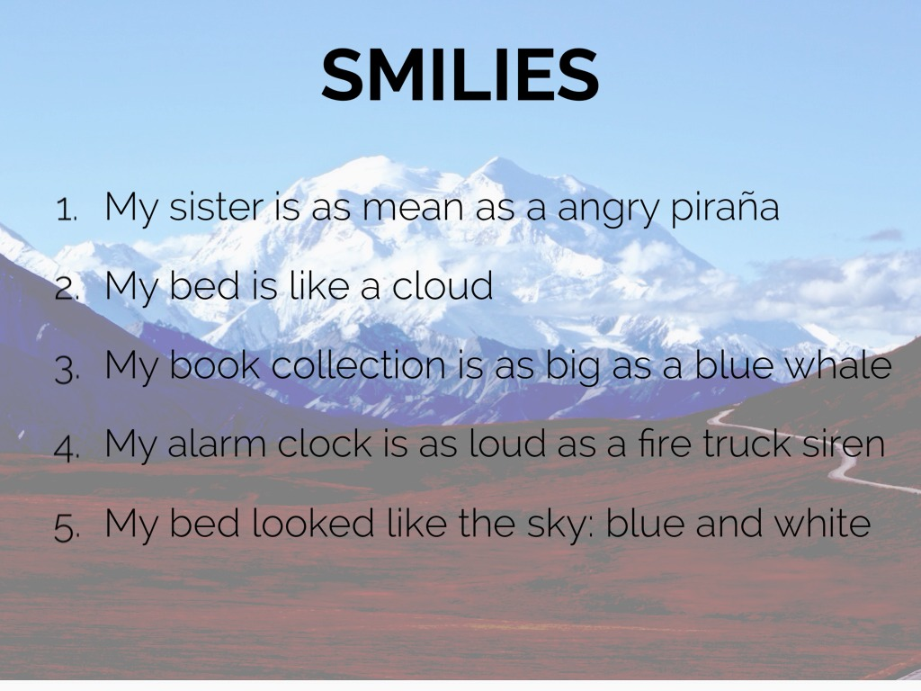 simile for loud
