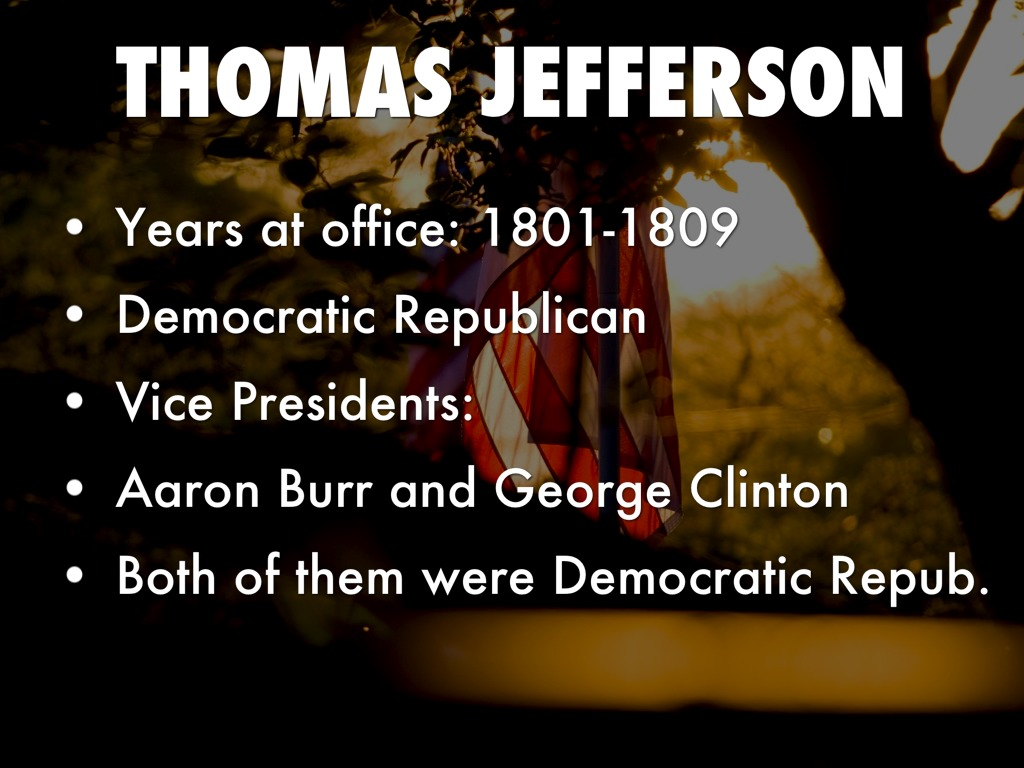 Thomas jefferson by carrie baumiller - Thomas jefferson term of office ...