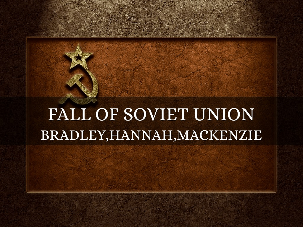 how the fall of the soviet union The cold war ultimately brought the soviet union down, but it took nearly half a century to accomplish this goal in 1945, around the end of world war ii, the soviet union and united states waged this war of threatening words and fear the cold war was a top concern on the international affairs front.