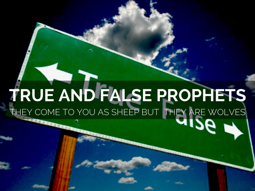 """true and false prophets I trust that you share with me the increasing sense of importance that this subject bears up until now, i have borne with some patience and even amusement the number of those who currently label themselves """"prophetic"""" and the popularity that this calling now enjoys, which has been contrary to."""