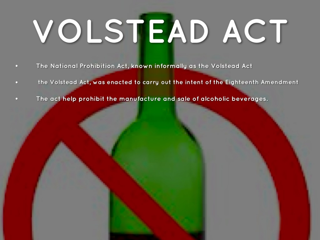 volstead act About us inspired by the speakeasies and history of the 20s prohibition era, the volstead act brings back a piece of history to spokane, wa through their hand-crafted libations and cocktails.