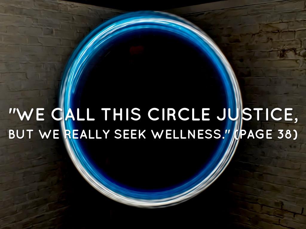circle justice touching spirit bear