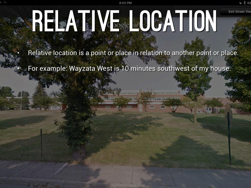 relative location examples