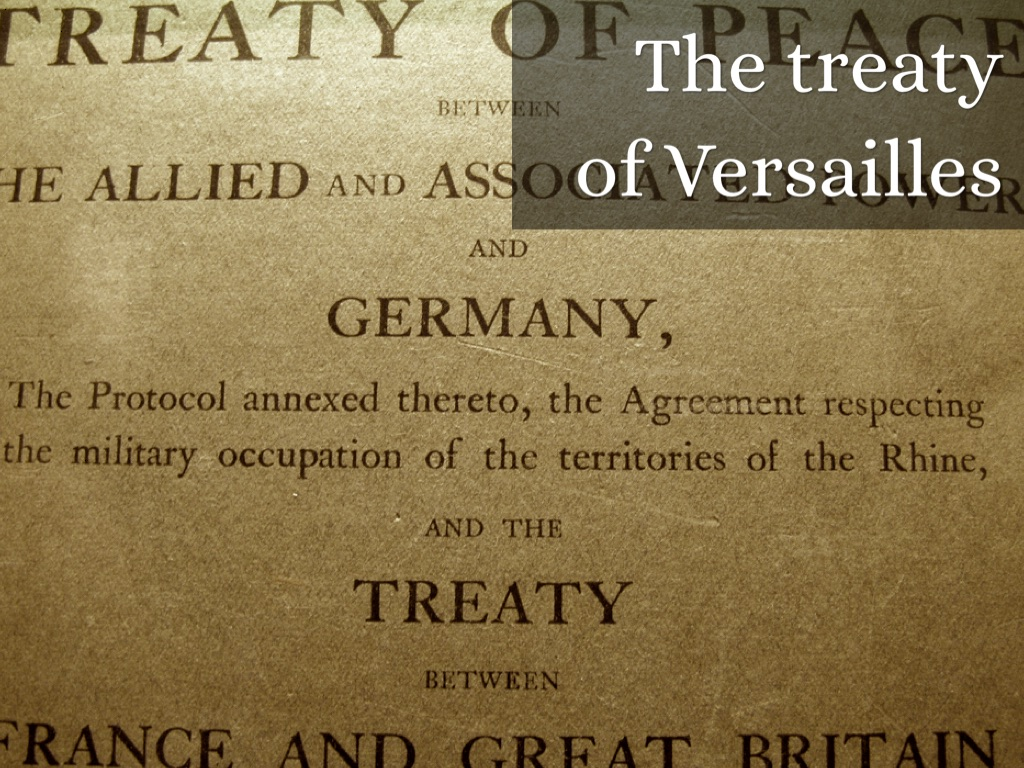 the versailles treaty