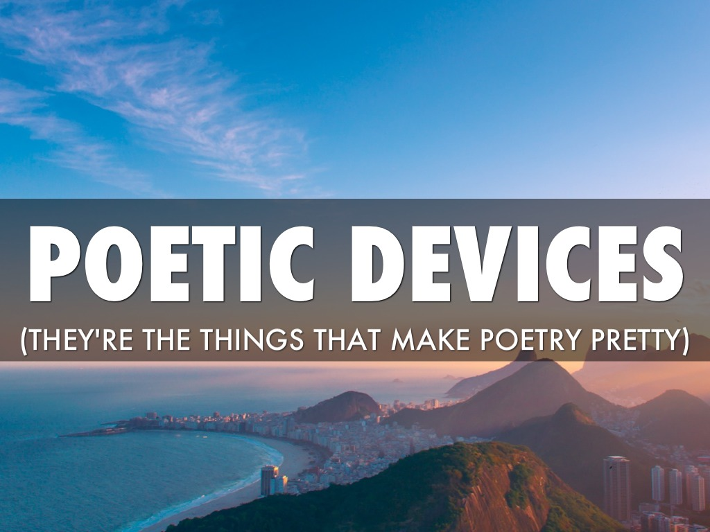 poetic devices by ian huffaker