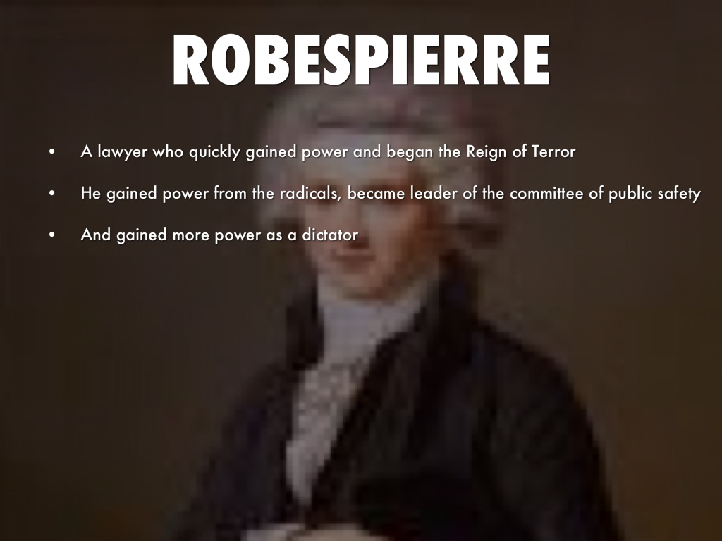 robespierre and the reign of terror essay Kids learn about the biography of maximilien robespierre from the french revolution including his early life, entering politics, the jacobins, gaining power, the reign of terror, fall from power, execution, and facts.