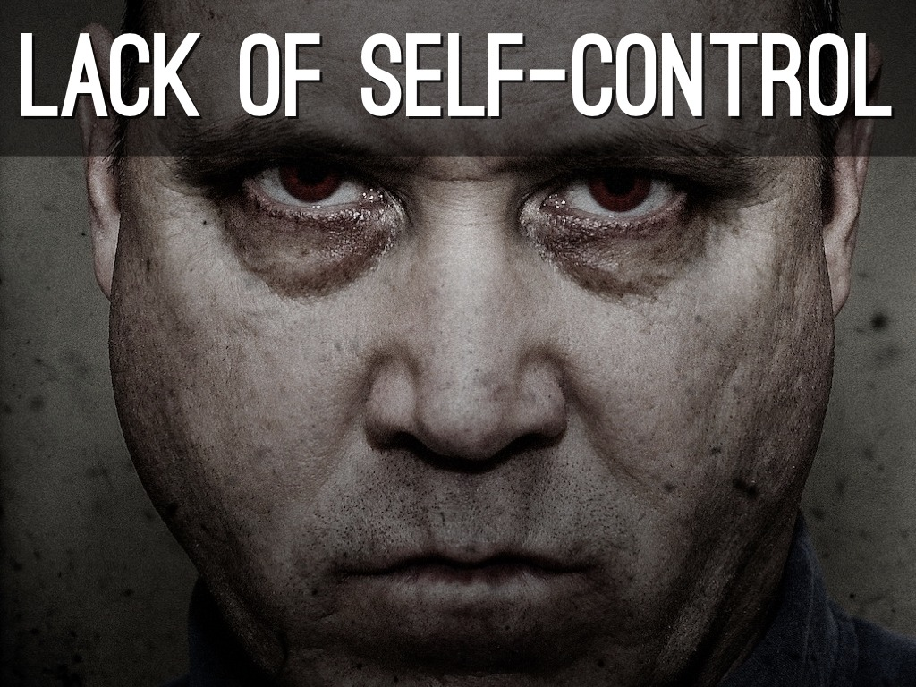 lack of selfcontrol by carson french