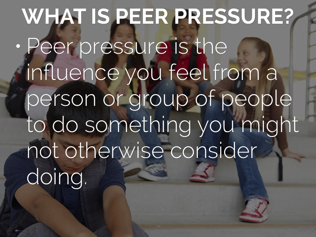 Effects of peer pressure essay