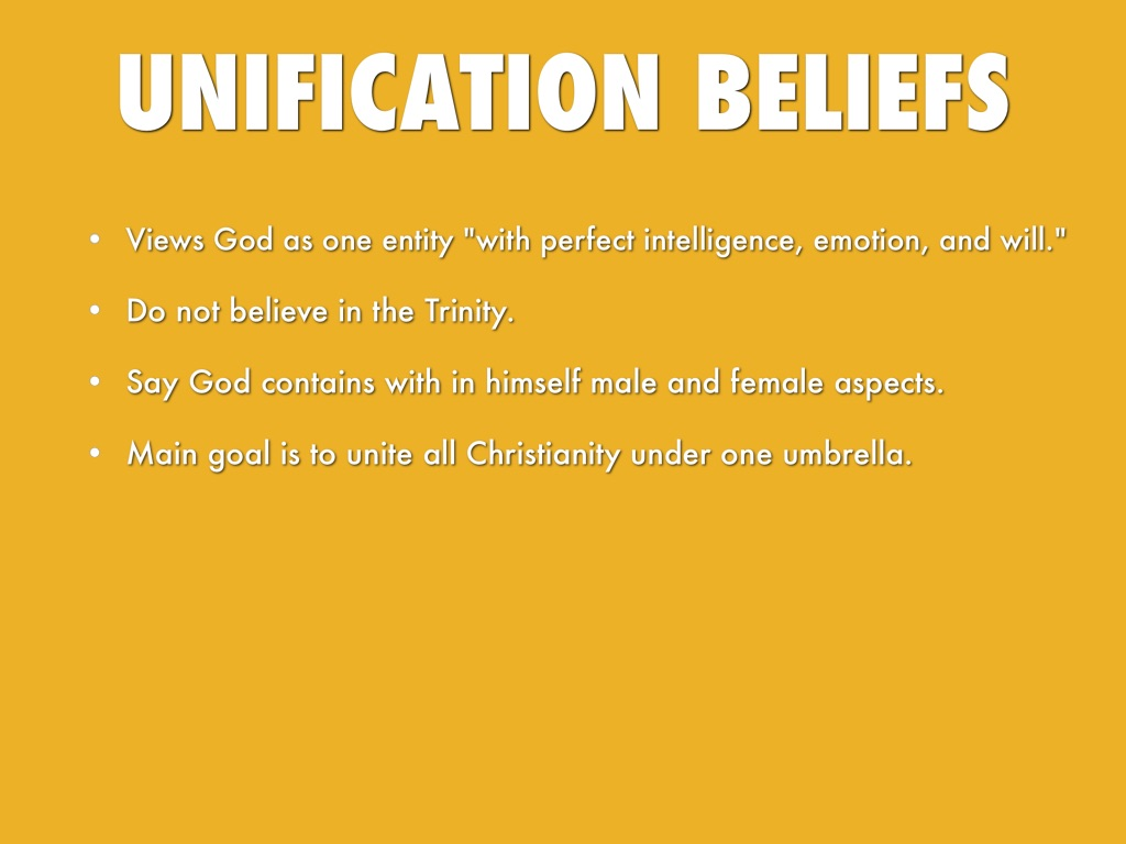 Unification church beliefs