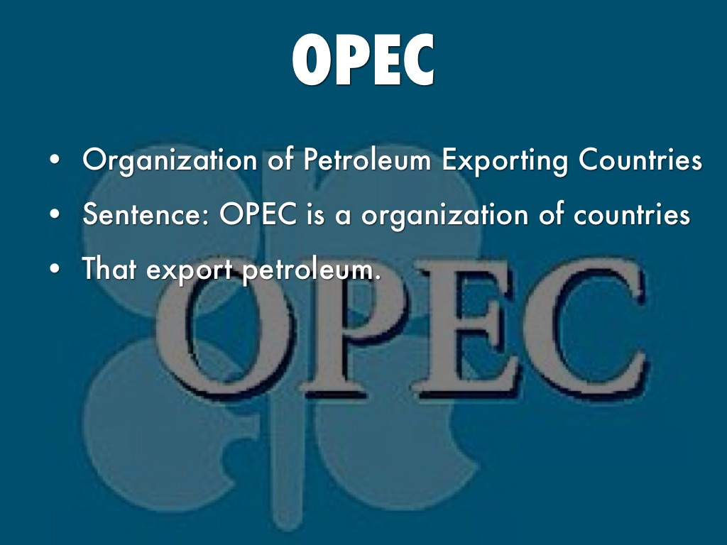 opec case study The case study has been especially used in social science, psychology, anthropology and ecology this method of study is especially useful for trying to test theoretical models by using them in real.