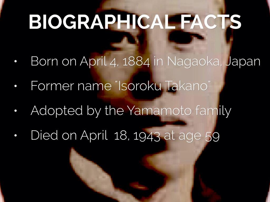 isoroku yamamoto biography