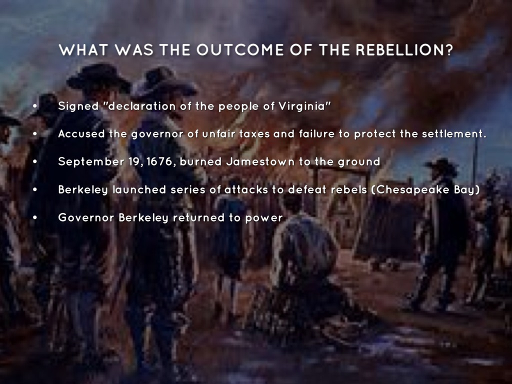 Bacon's Rebellion (1676–1677)