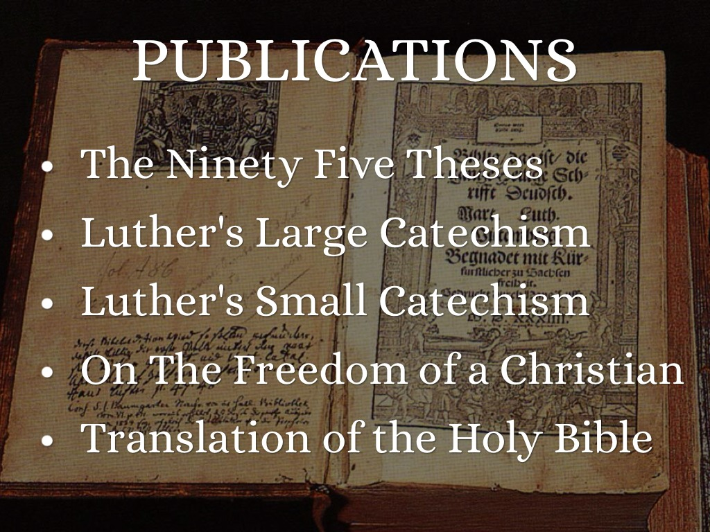 the 95 theses translation The 95 theses appeared only the day before the elector of saxony sold indulgences to visitors of his holy relics even if luther didn't intend for it to happen, the 95 theses were soon translated into german, printed and widely distributed.