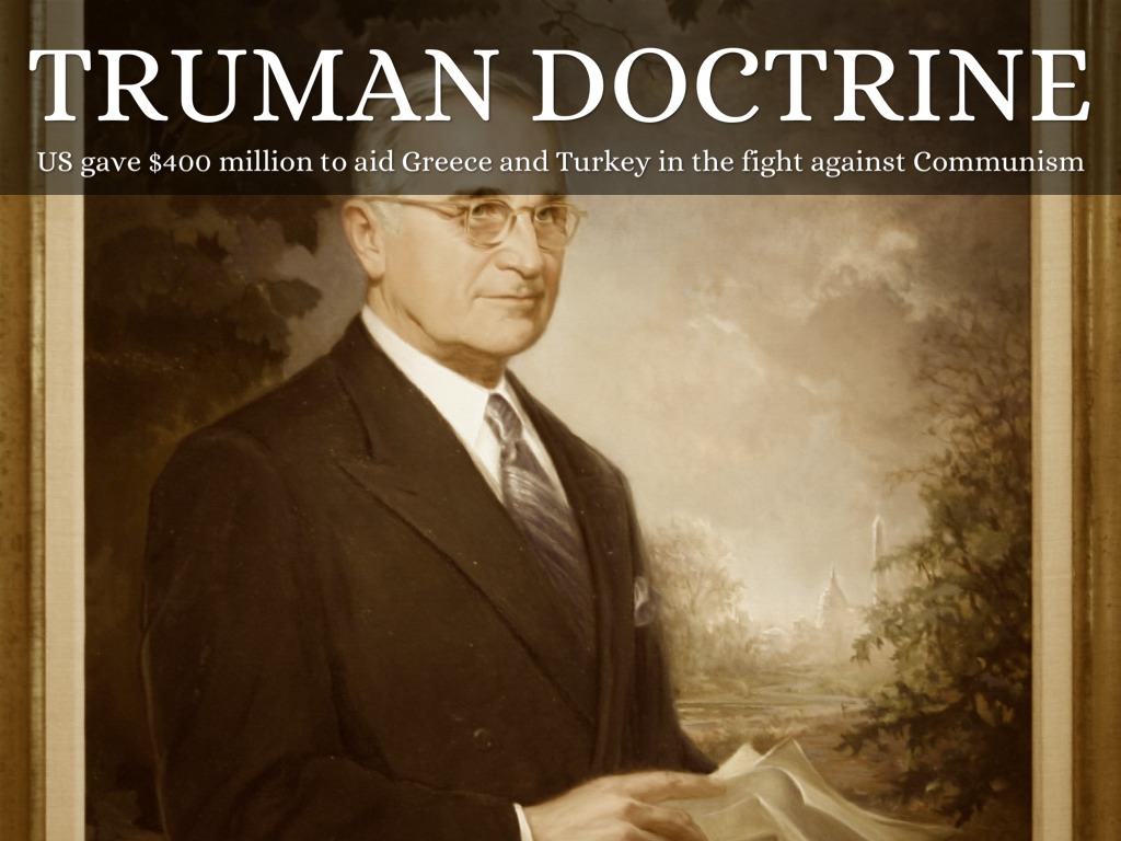 an analysis of the truman doctrine by hemant patel