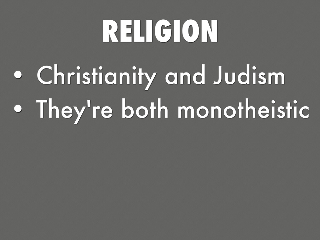 the explanation of a monotheistic religion christianity