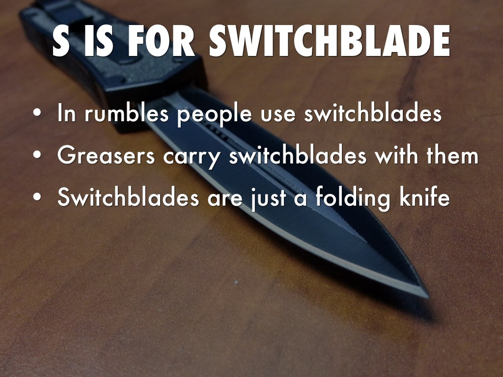 the outsiders switchblade wwwpixsharkcom images