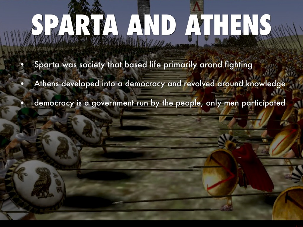 an overview of sparta and athens Rise of city-states: athens and sparta athens and sparta are two good examples of city-states that contrasted greatly with each other athens: the think tank.
