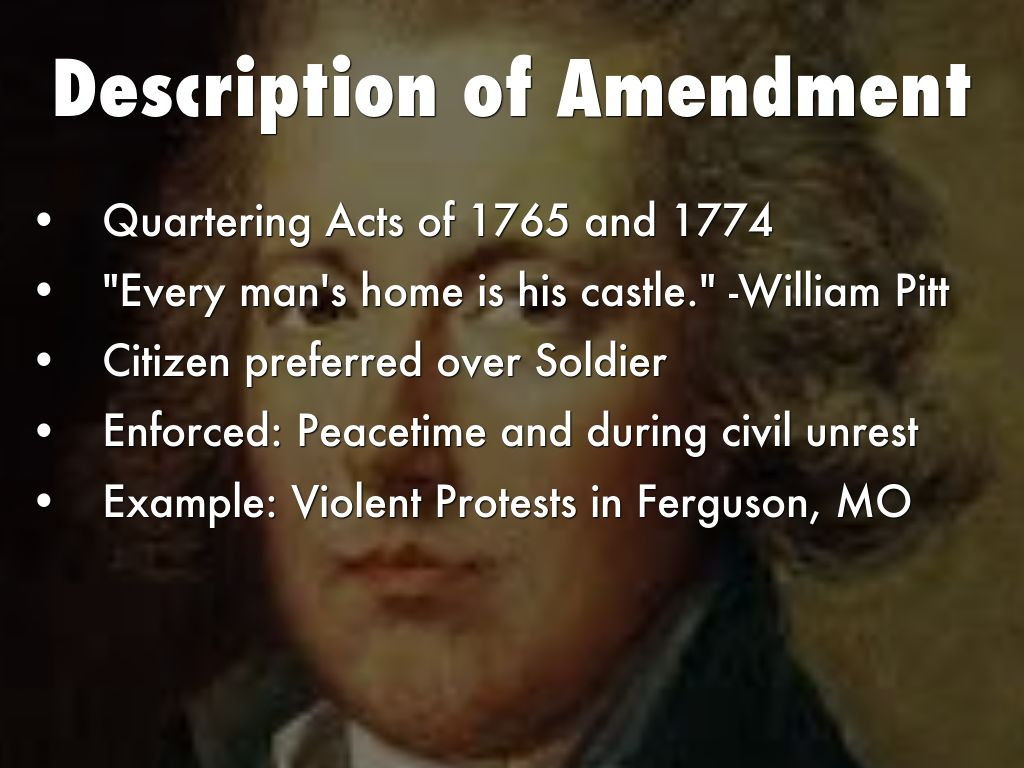 from what does the third amendment free citizens