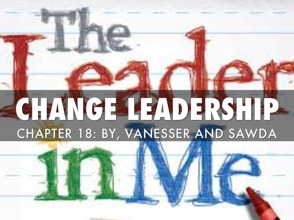 CHANGE IN LEADERSHIP