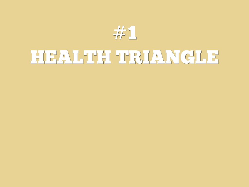 HEALTH TRIANGLE _ Sarah B health