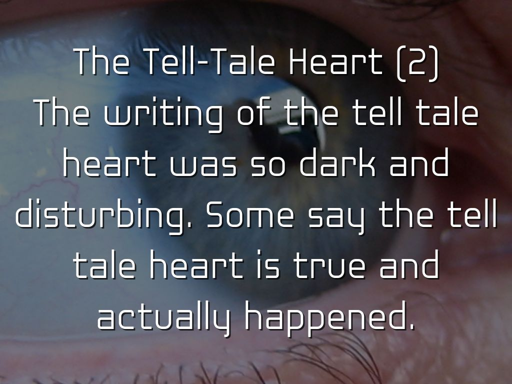 the tell tale heart schizophrenia We're doing a mock trial in my english class based on the tale tale heart i'm supposed to be a psychiatrist on the defense side we're trying to prove that the defendant (who murdered an old man) is not guilty by reason of insanity.