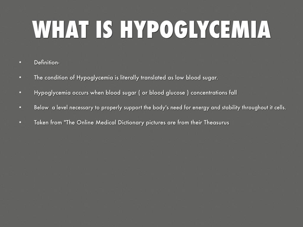 awareness of hypoglycemia by dorothy reddick