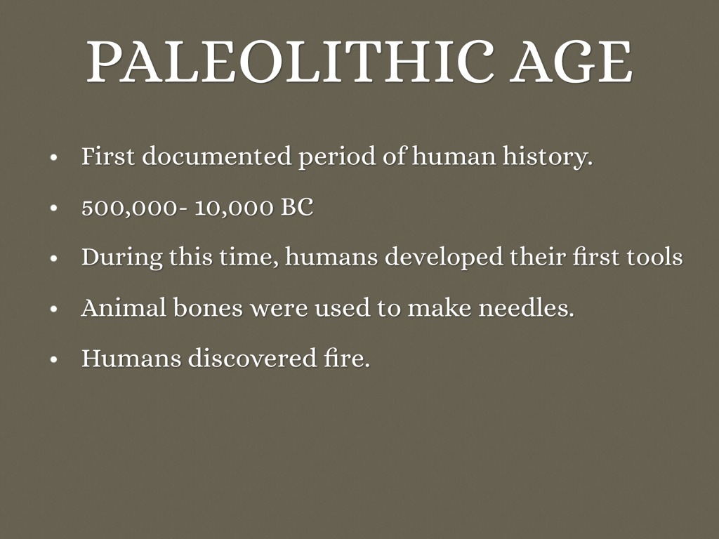 Neolithic Time Period Get Their Food