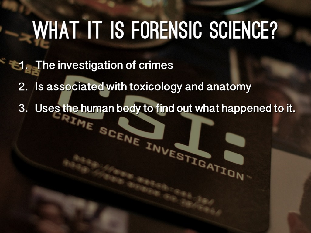 forensic science 1 06 Support science instruction in areas of chemistry and forensic science.