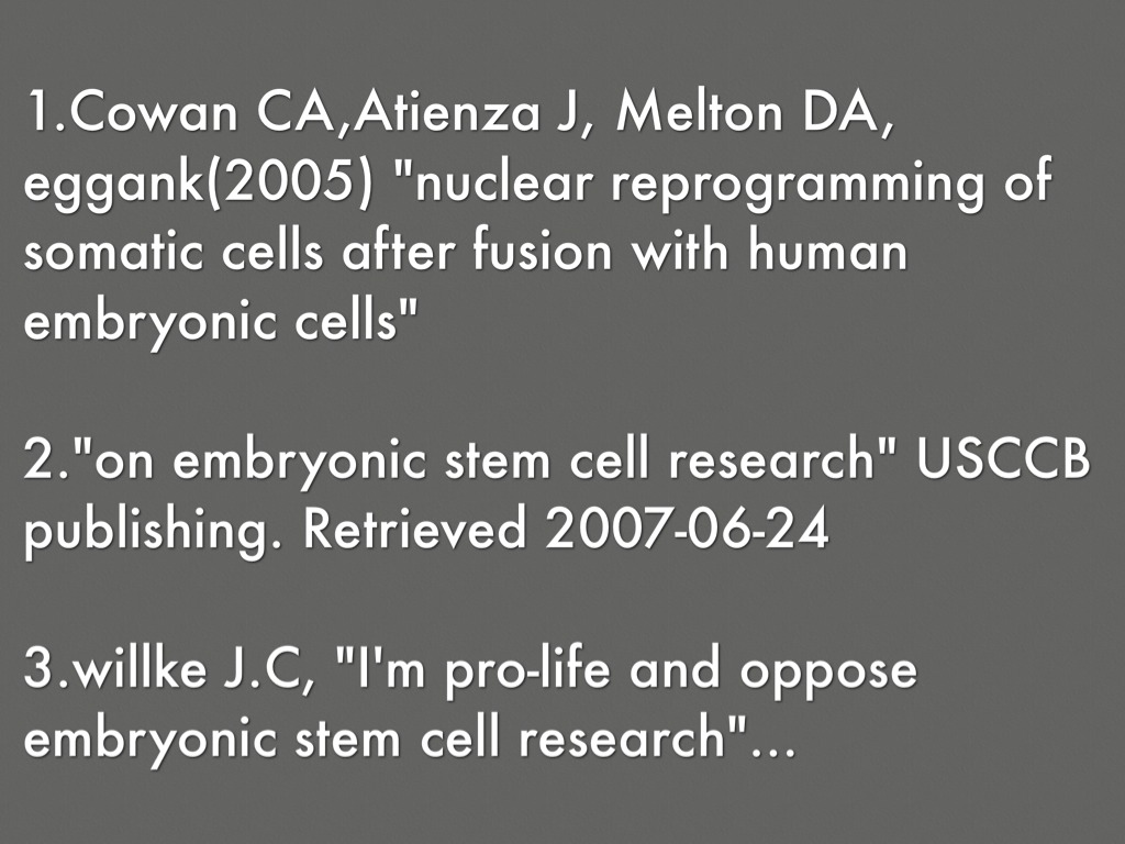 against stem cell research Embryonic stem cells offer hope for new therapies, but their use in research has been hotly debated different countries have chosen to regulate embryonic stem cell research in very different ways.